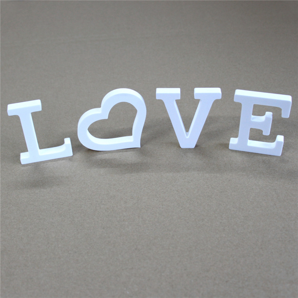 Thick 12mm 1set White Wooden Wood Letters LOVE & DIY Personalised Name Design Art Crafts Of  Wedding Birthday Party Home Decor