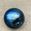 50mm luz azul labradorite bola de cristal de quartzo natural labradorite bola de cristal cura como presente