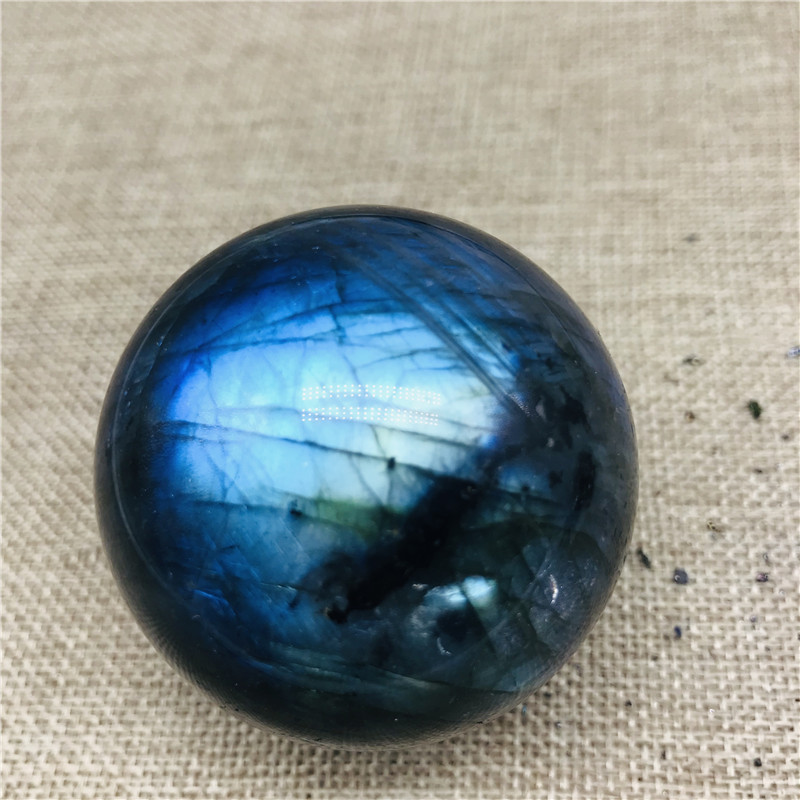 Boule de cristal de quartz labradorite lumière bleue 50mm boule de cristal de labradorite naturelle guérison comme cadeau