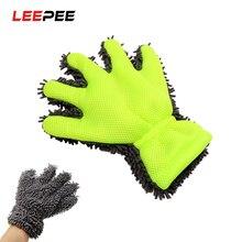LEEPEE guanti per lavaggio Auto in microfibra finestra cura automatica dettaglio pulizia Auto morbida strumento di lavaggio pulizia della casa