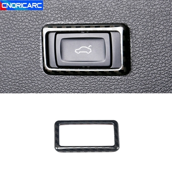 Car Trunk Switch Button Frame Decal Trim For Audi Q5 FY 2018-19 Tail Door Switch Button Interior Accessories Modified image