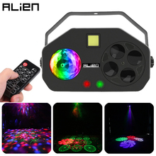ALIEN Remote RGB 4 IN 1 LED Gobo Strobe Magic Ball Laser Project DMX Stage Lighting Effect DJ Disco Party Holiday Wedding Light