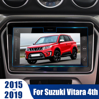 For Suzuki Vitara 4th 2015 2016 2017 2018 2019 Accessories GPS Navigation Tempered Glass Protection Film LCD Screen Sticker Film image
