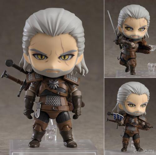 10cm Geralt Of Rivia Action Figure Toys Christmas Gift Doll With Box