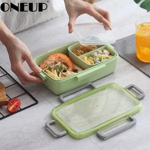 ONEUP Microwave Lunch Box Containers With Compartments Kids Bento Box Leak-Proof Food Container School Lunchbox For Picnic