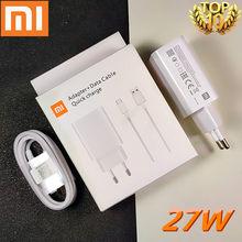 Быстрое зарядное устройство xiaomi 27 Вт, оригинальный EU QC 4,0 турбо адаптер для быстрой зарядки, usb type c кабель для mi 9 9t pro k20 pro mi note 10 lite