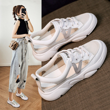 Comfort 2021 Summer Sandals Women Sneakers Mesh Casual Platform Trainers Shoes Flat Heels Shoes Female Cutout Casual Slippers