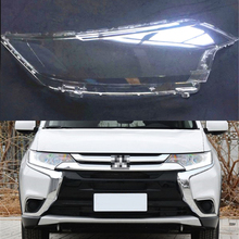 Car Headlight Lens For Mitsubishi Outlander 2016 2017 2018  Car Headlamp Cover Replacement   Auto Shell Cover