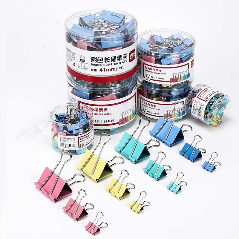 10PCS / Metal Paper Clips 19mm Color Candy Paper Clips For Books, Stationery, High-end School Office Supplies