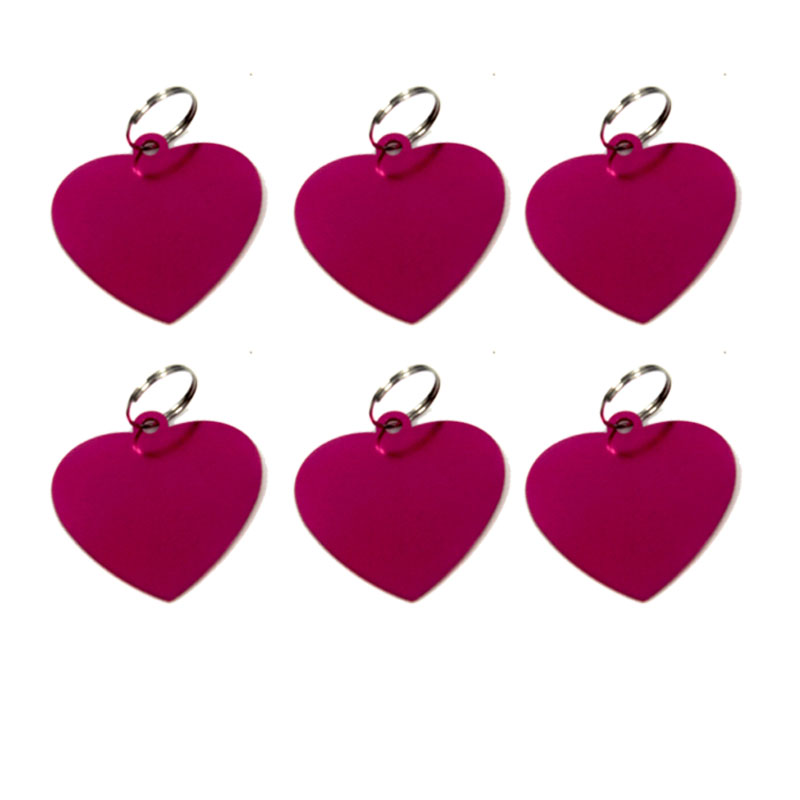 Pet Identity Card DIY ID Tags (Name, Phone Number) Bone/heart Shape Cute Decorative Necklace For Cat & Dog Wholesale