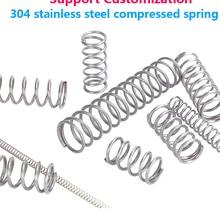 Return Spring Spring-Wire-Diameter Y-Type-Rotor Compressed Stainless-Steel 304 10PCS