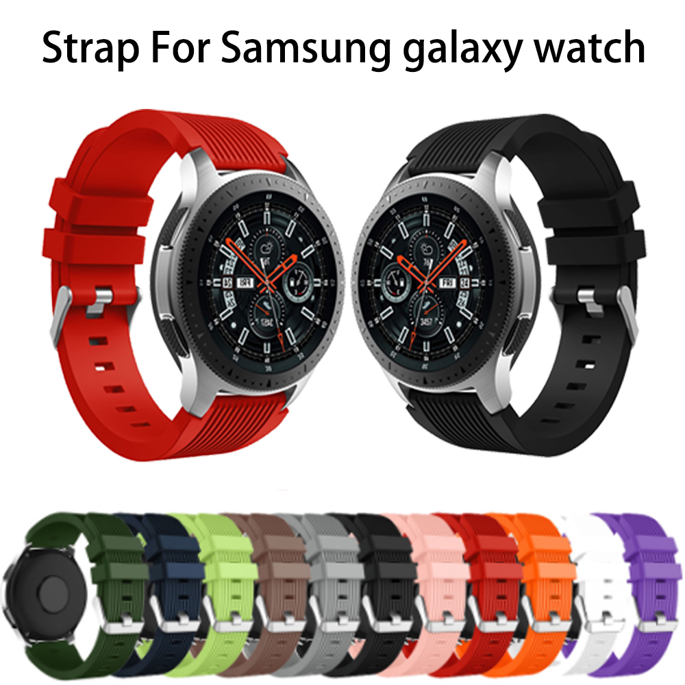 For Samsung Galaxy Watch 46mm Watch Band 22mm Silicone Replacement Wirst Strap For Gear S3 Frontier Classic Bracelet Accessories
