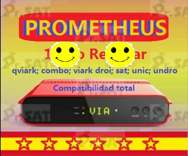 Tv-Box Qviart Combo Renew Prometheus Unic Viark Sat Undro Refresh Droi PT No Only-No-App
