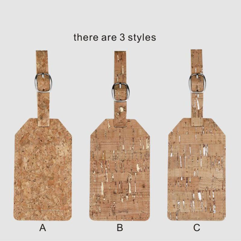 1Pc Travel Luggage Gift Cute Cork Suitcase Tag With Strap Travel Tags Hot Selling