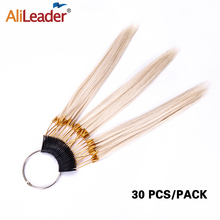 Alileader Fashion Dyeing Hair Color Ring 30Pcs/Pack Human Hair Swatches Testing Color Samples Swatches Hairs Extension Healthy