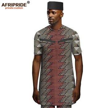 цена African Men Clothing Dashiki Print Shirts Ankara Pants and Tribal Hat 3 Piece Set Triditional Outfits Attire AFRIPRIDE A1916069B онлайн в 2017 году