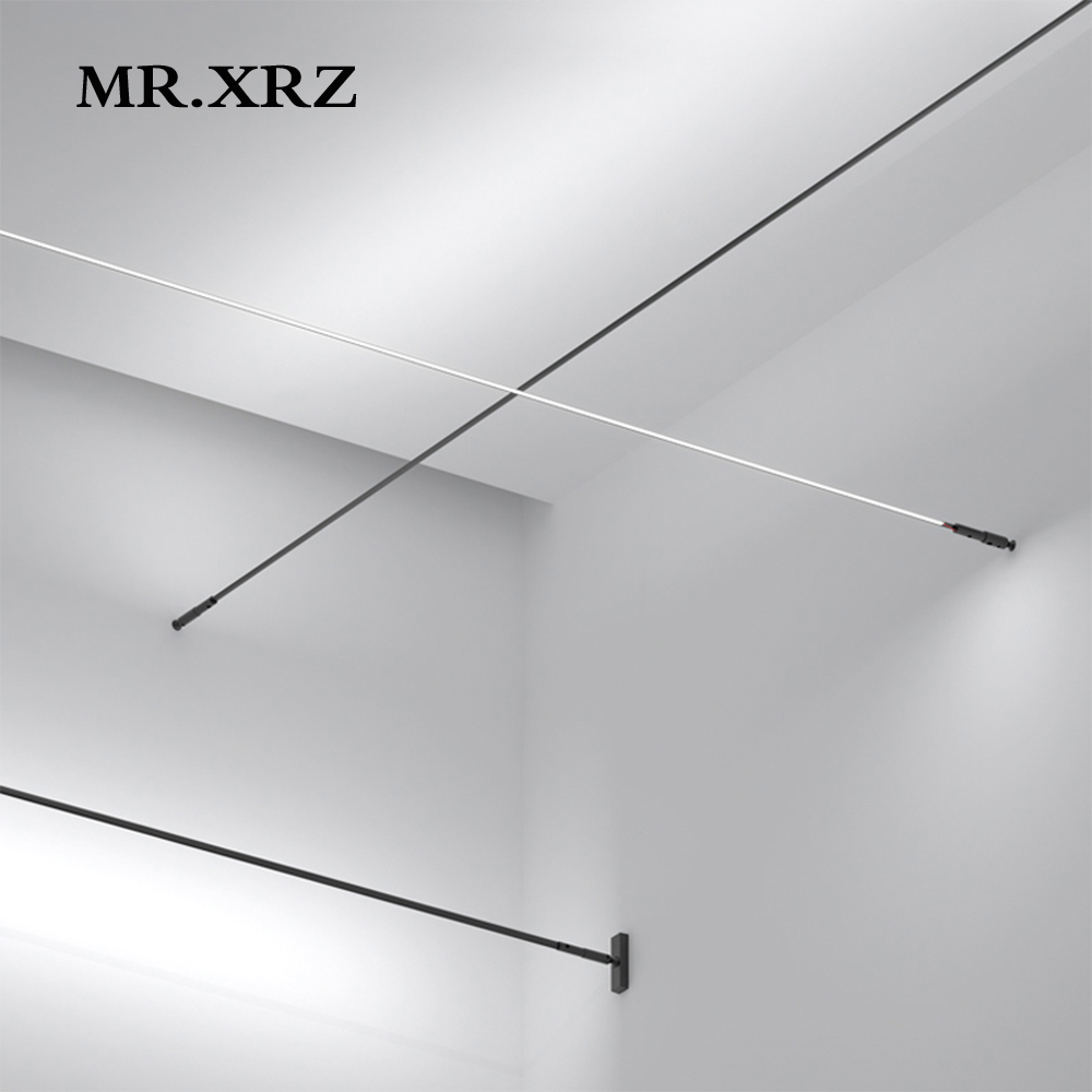 MR XRZ 4m 8m 9 5W SMD Skyline Linear LED Bar Lights Creative Aluminum Profile Straight COB Line Lamps For Home Indoor Lighting