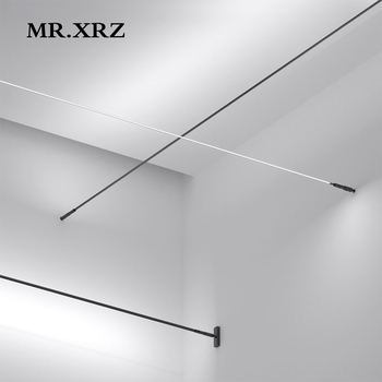 MR.XRZ 4m 8m 9.5W SMD Skyline Linear LED Bar Lights Creative Aluminum Profile Straight COB Line Lamps For Home Indoor Lighting