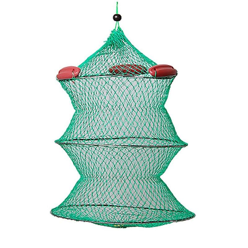 Spor ve Eğlence'ten Balıkçılık Makara Kutuları'de Katlanabilir yeşil düğüm tekne balıkçılık canlı yem Net tutmak title=