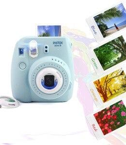 Image 5 - 3 סטים צבעוניים מסננים מקרוב עדשה עבור Fujifilm Instax מיני 9 מיני 8 7S קיטי מיידי ירי מצלמה מתנת סטי ורוד