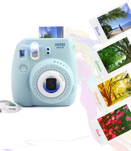 Image 5 - 3 Sets Colored Filters Close Up Lens for Fujifilm Instax Mini 9 Mini 8 7S Kitty Instant Shooting Camera Gift Sets Pink