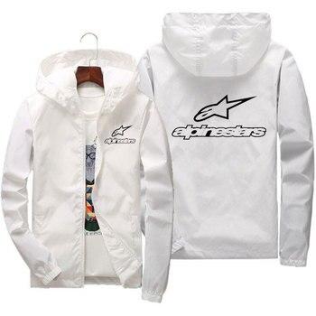 2020 spring and summer new high mountain star jacket men's street windbreaker hoodie zipper thin jacket men's casual jacket 7XL