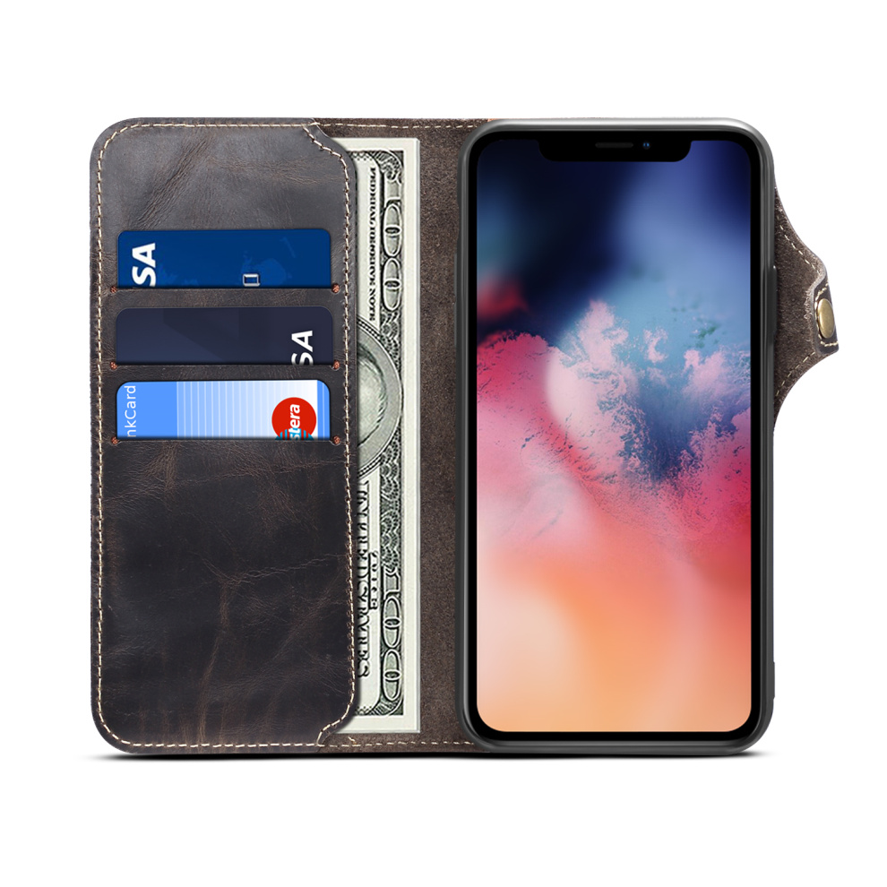 Durable Genuine Leather Wallet Case for iPhone 11/11 Pro/11 Pro Max 34