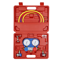 Carbole R134a Auto Manifold Guage Set Refrigeration Kit Air Conditioning Tools with Reading of R134a, R404A, R22, R410A for Car r404a 1hp hermetic rotary refrigeration compressor for refrigeration multideck