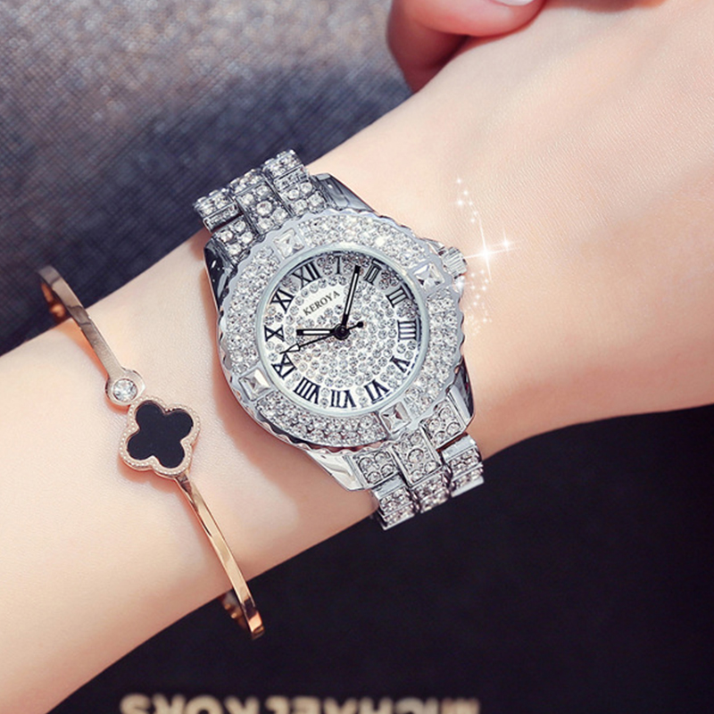 New Rose Gold Watch Luxury Women's Watches Waterproof Ladies Watch Fashion Female Clock Quartz Watch Women Diamond Wristwatch