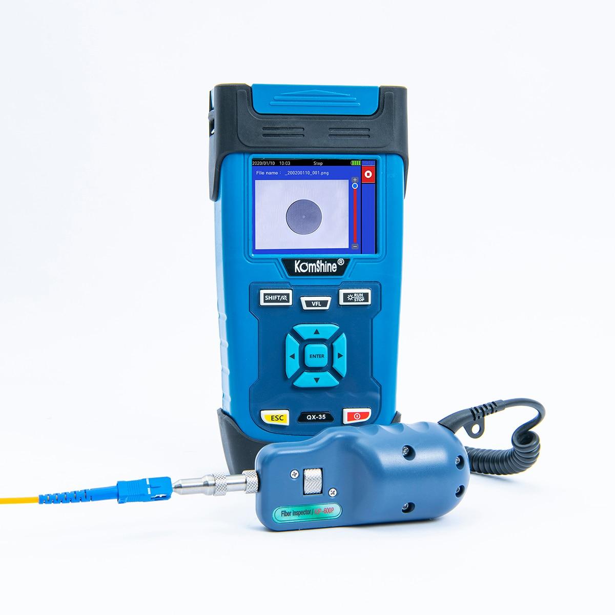 FTTx Maintance SM волоконно оптический OTDR Komshine QX45 1310/1550nm 32/30 дБ Встроенный 10 мВт VFL, контрольный зонд является дополнительным
