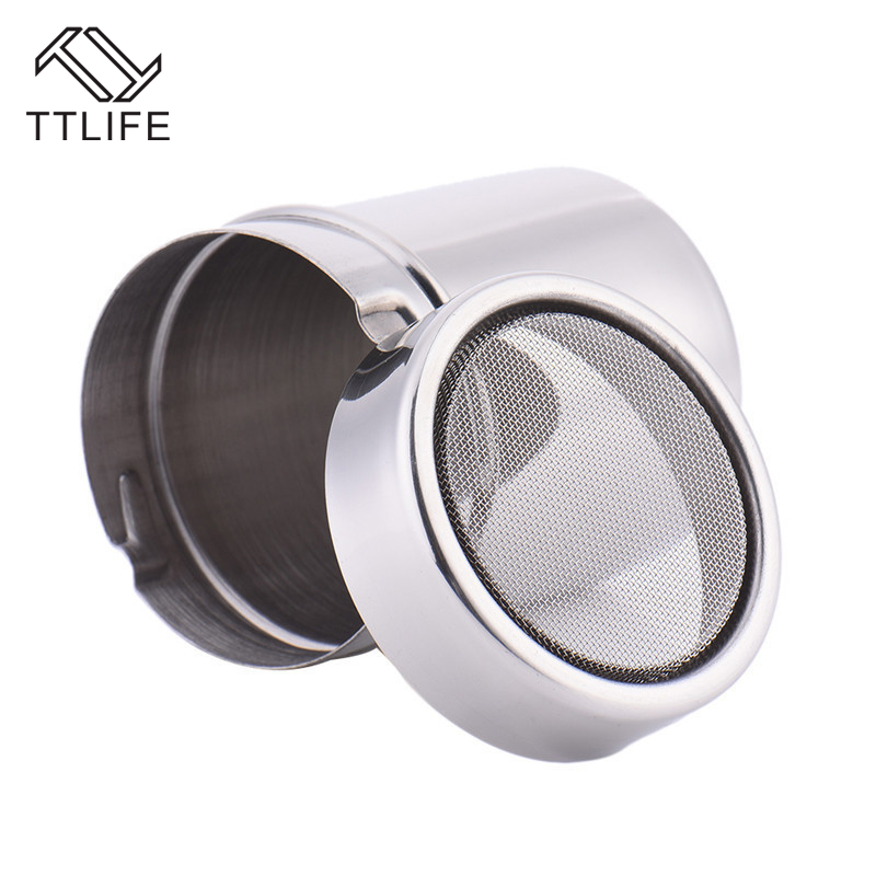 TTLIFE Stainless Steel Chocolate Shaker Cocoa Flour Icing Sugar Powder Coffee Sifter With Lid Coffee Filters Coffee Accessories