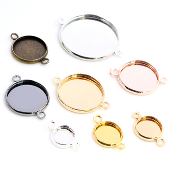 8-25mm Cabochon Base Tray Bezels Blank Gold Bracelet Setting Supplies For Jewelry Making Findings Accessories 20pcs lot stainless steel cabochon blanks setting 6 25mm base tray bezels blank for diy bracelet pendant jewelry making supplies