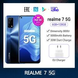 [Предпродажная] Новые Realme7 5G глобальная версия 6 ГБ + 128 ГБ полноэкранный 120 Гц Дисплей 5000 мА/ч, 30W Дротика заряда 48MP Камера смартфон
