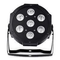 Oferta specjalna 7x18W LED Par światła RGBWA UV 6w1 płaskie par led dmx512 światła dyskotekowe profesjonalny sprzęt dj etapie w Oświetlenie sceniczne od Lampy i oświetlenie na