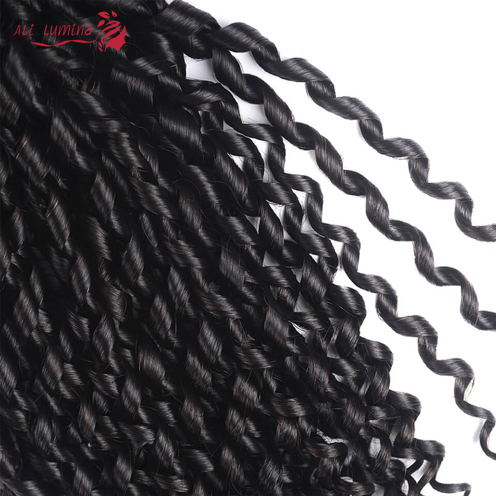Funmi Telephone Curl 3 Bundles with 4*4 Lace Closure  Human  Hair s 3 Bundle with Closure 4