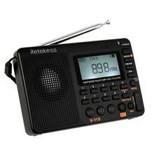 Retekess радио FM/AM/SW многополосный радиоприемник REC рекордер басовый звук mp3-плеер колонки с таймером сна