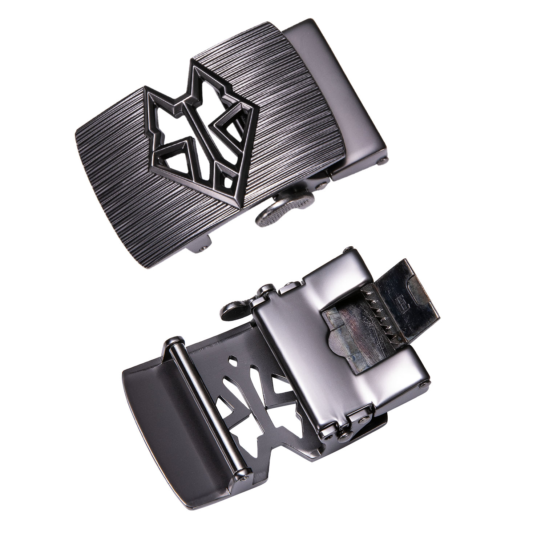 Men's Fashion Alloy Automatic Buckle Unique Men Leather Belt Buckles For 3.5cm Ratchet Men Belt Head Only Buckle DiBanGu