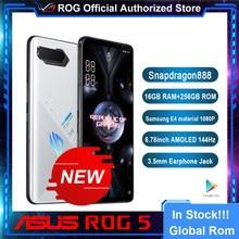 Original oficial asus rog 5 5g gaming phone snapdragon 888 6.78 polegada amoled 144hz 65w hyper carga 6000mah 64mp rom global rog5
