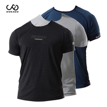 WOSAWE Running Sport T-shirt man Outdoor exercise Gym Breathable Quick-drying Short sleeve Jogging Sport Wear Man T-shirt women short sleeved wear sexy sport t shirt wear chest pad women s cross tight short sleeved quick drying running wear