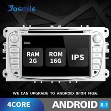 2 din Android 8.1 Car DVD Player For Ford Focus 2 Mondeo 4 C-Max S-Max Galaxy KugaTransit Connect Multimedia Radio GPSNavigation околофутбола матч 4 серии 2 dvd