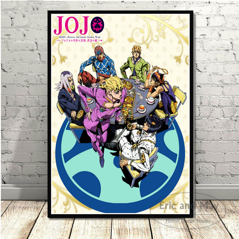 JoJo S Bizarre Adventure Hot Japan Anime Action Wall Art Picture Posters And Prints Canvas Painting For Room Home Decor