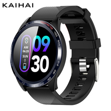 Kaihaiスマート腕時計スポーツiphone電話スマートウォッチストップウォッチ心拍数モニター血圧機能女性の男性の子供