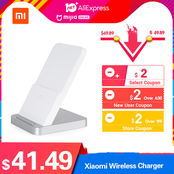 Original Xiaomi Wireless Charger 30W Max Vertical Air-cooled Charger with 30W Flash Charging for Smartphone Drop shipping
