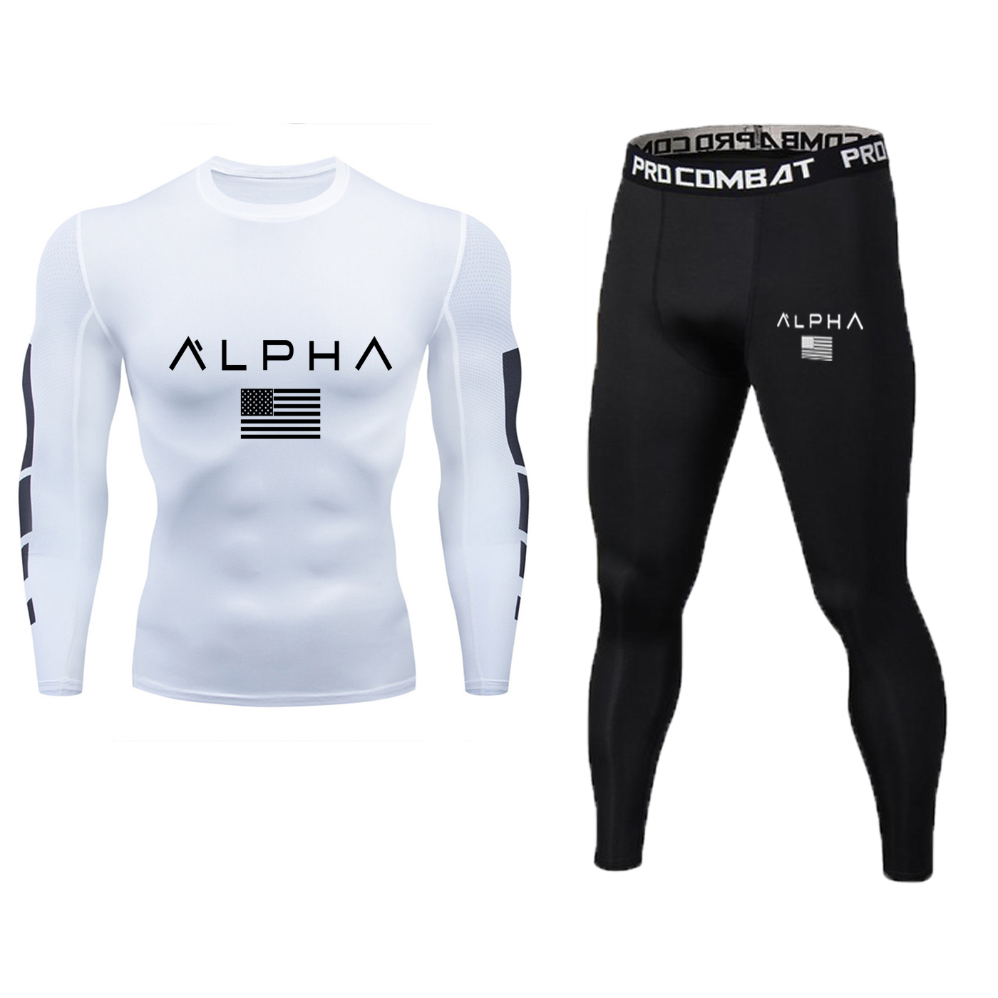 Men's Sportswear Compression Sportswear + Breathable Men's Tight Men's Pants Slim Training Sportswear Gym Yoga Wear Sports
