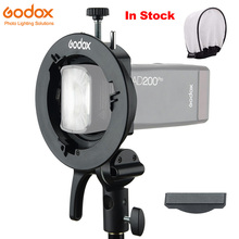 Godox S2 Speedlite s tipi braketi Bowens dağı tutucu Godox V1 AD200Pro AD400Pro AD200 V860II TT685 TT600 TT350 tilt kontrol