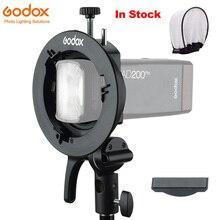 Godox S2 Speedlite uchwyt typu S uchwyt Bowens do Godox V1 AD200Pro AD400Pro AD200 V860II TT685 TT600 TT350 kontrola przechyłu