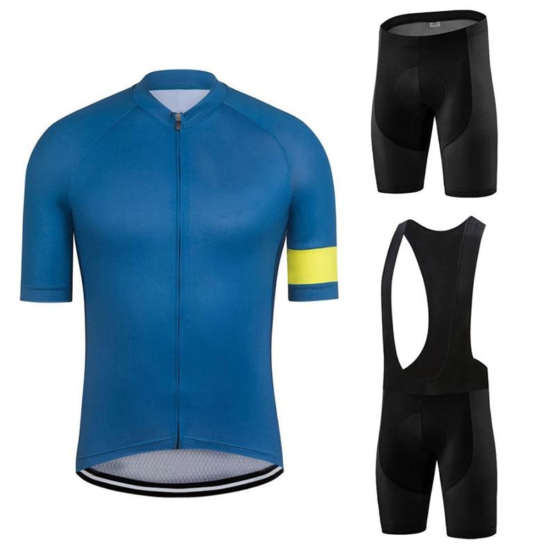 Велосипедный комплект с коротким рукавом, быстросохнущая дышащая рубашка, брюки, нагрудник, короткая велосипедная одежда, мужская уличная ...