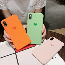 Love heart Silicone Case for iphone 5 5s SE 6 6s 7 8 Plus X Luxury Shockproof TPU Cover for iphone XS XR XS Max Soft Matte Cover цена и фото