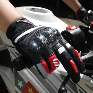 Image 5 - Motorcycle Gloves Motocross Full Finger Motorbike Gloves Touch Screen Glass Fiber Riding Biker Moto Gloves Four Seasons Unisex