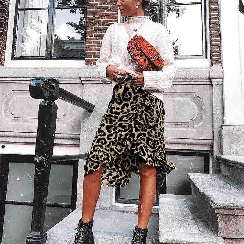 Skirts 2019 women streetwear boho bodycon leopard print high waist skirts womens midi leopard skirt punk streetwear korean style